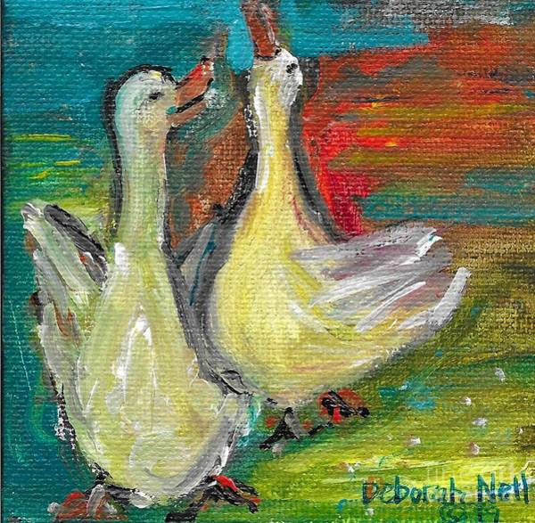 Painting - Ducks Just Want To Have Fun by Deborah Nell