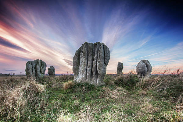 Era Photograph - Duddo Stone Circle by Photography By Trevor Weddell
