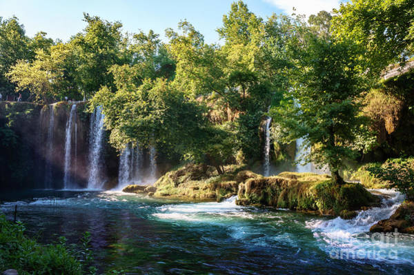 Wall Art - Photograph - Duden Waterfall Antalya Turkey. Summer by Dmitry Polonskiy