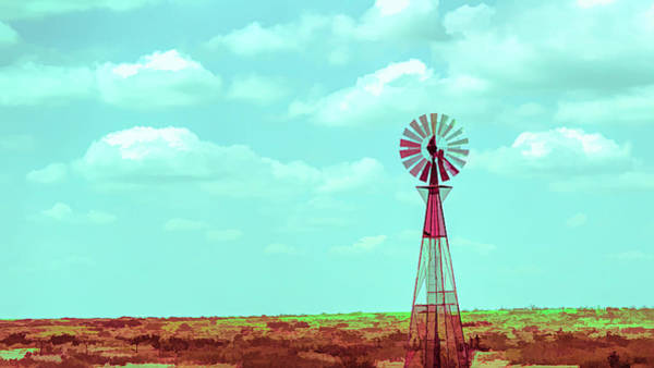 Digital Art - Dueling Tones Windmill by Jason Fink