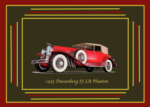 Digital Art - Duesenberg 1935 by Chuck Staley