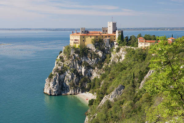 Adriatic Wall Art - Photograph - Duino Castle On The Coast North Of by Franz Marc Frei / Look-foto