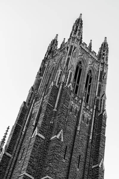 Wall Art - Photograph - Duke Chapel Bell Tower by Stephen Stookey