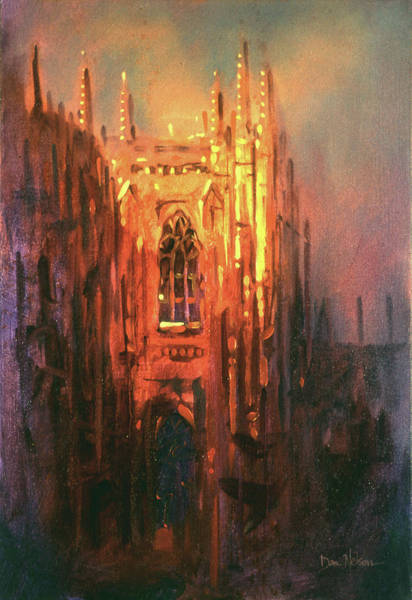 Wall Art - Painting - Duke Chapel by Dan Nelson
