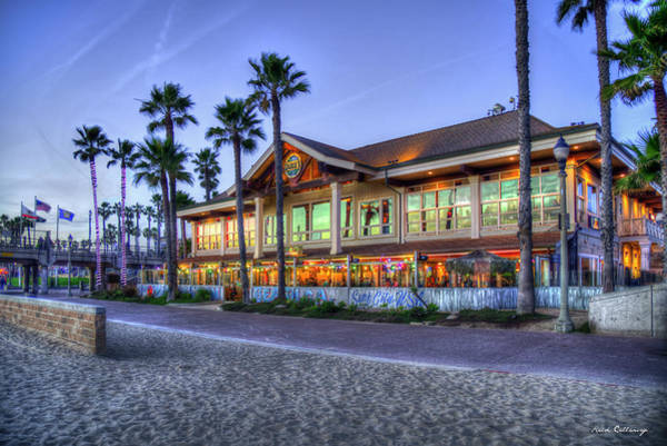 Photograph - Dukes Huntington Beach Pier California Seascapes Art by Reid Callaway