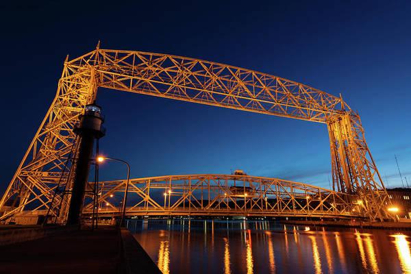 Wall Art - Photograph - Duluth Mn Lift Bridge Built 1905 by Steve Gadomski