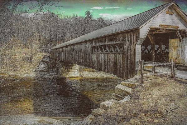 Digital Art - Dummerston Covered Bridge,vermont. by Rusty R Smith