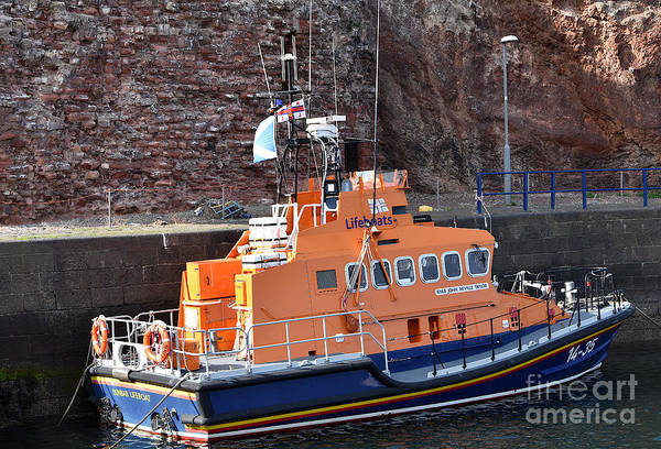 Dunbar Lifeboat Art Print by Yvonne Johnstone