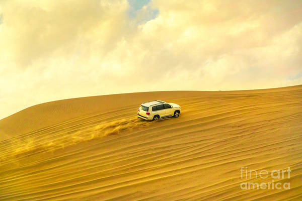 Photograph - Dune Bashing Sunset by Benny Marty
