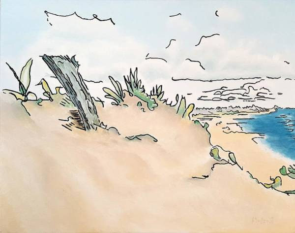 Painting - Dune Post by Dave Martsolf