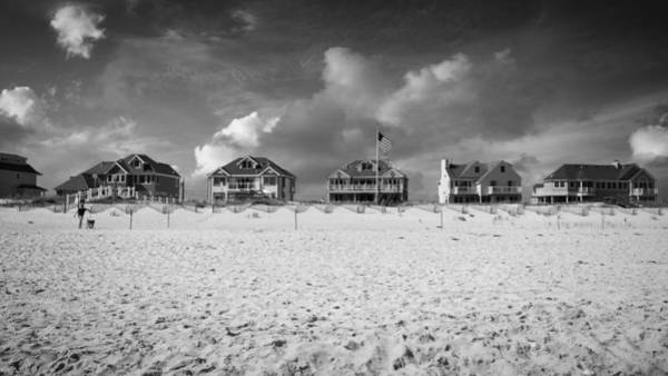 Fire House Photograph - Dune Road Bw by Laura Fasulo