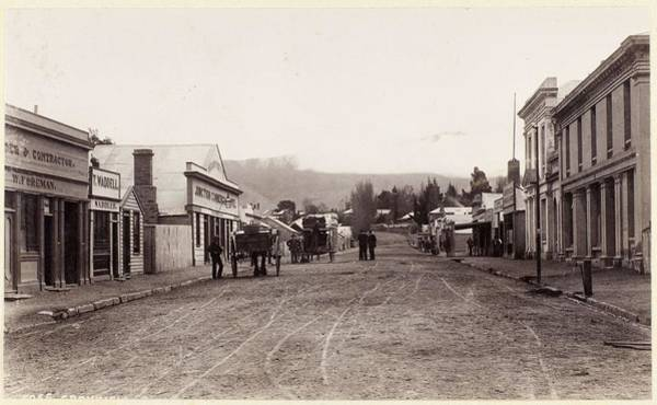 Sand Creek Painting - Dunedin Gold Dredge  1870 1880s  Otago  By Burton Brothers Studio 2 by Celestial Images