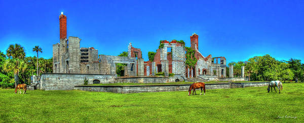Wall Art - Photograph - Dungeness Ruins Cumberland Island Landscape National Seashore Art by Reid Callaway