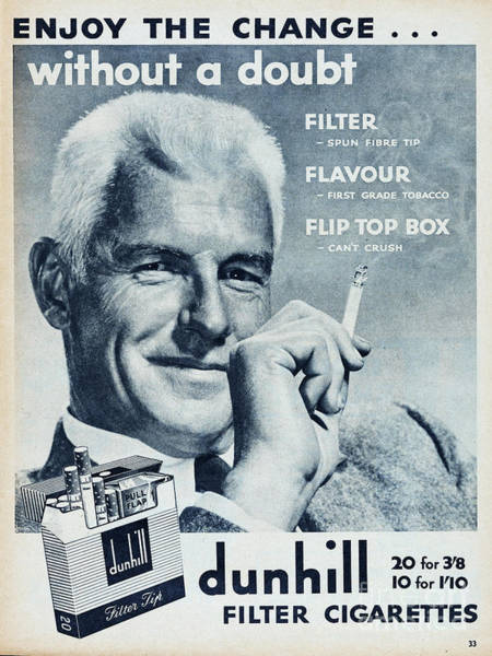 Wall Art - Photograph - Dunhill Cigarettes by Picture Post
