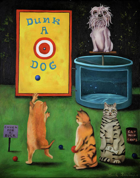Painting - Dunk A Dog by Leah Saulnier The Painting Maniac