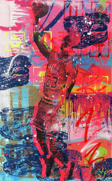 Wall Art - Mixed Media - Dunk  by Shane Bowden