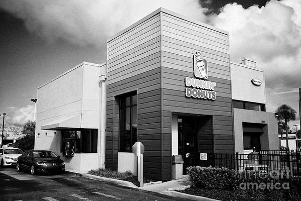 Wall Art - Photograph - Dunkin Donuts Restaurant Franchise With Drive Thru Florida Usa United States Of America by Joe Fox