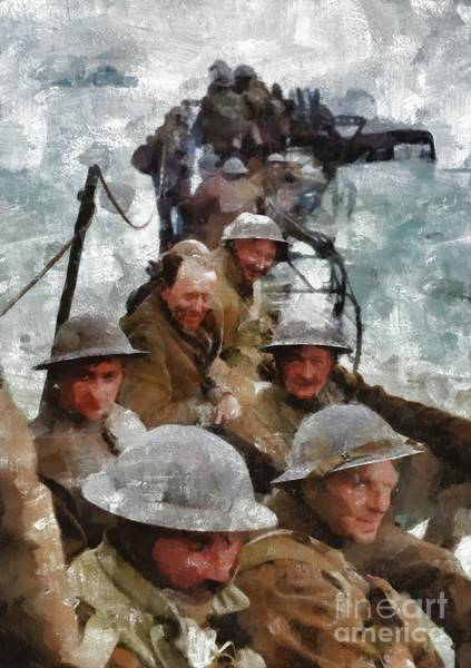 Dday Wall Art - Painting - Dunkirk, Wwii by Mary Bassett