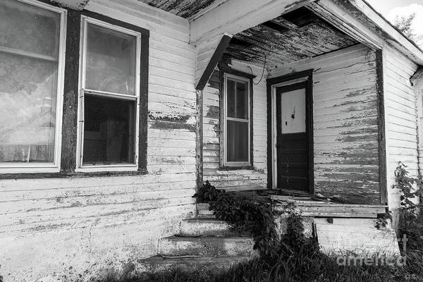 Wall Art - Photograph - Dunnegan Gas Station Porch Grayscale by Jennifer White