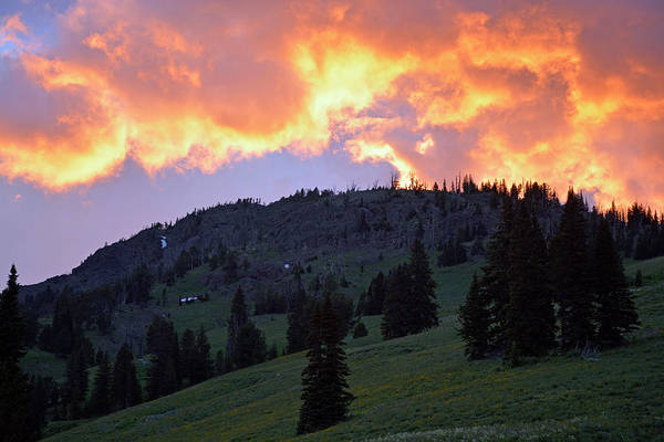 Photograph - Dunraven Pass Sunset by Bruce Gourley