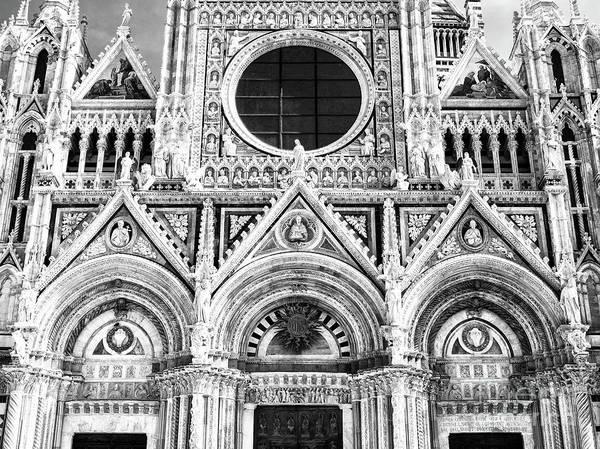 Photograph - Duomo Di Siena Facade Details by John Rizzuto