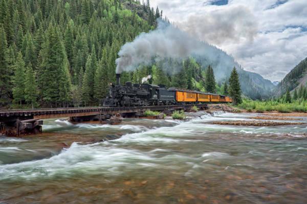 Photograph - Durango Silverton Train 473 by Angela Moyer