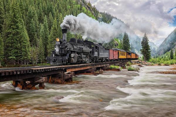 Photograph - Durango Silverton Train 476 by Angela Moyer