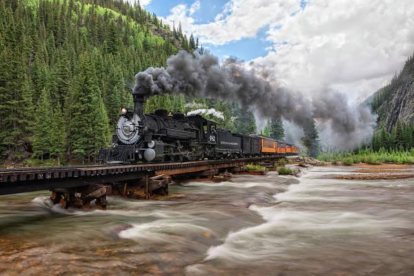 Photograph - Durango Silverton Train 482 by Angela Moyer