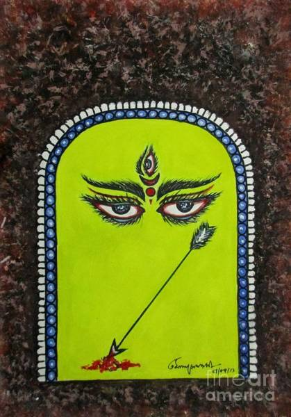 Painting - Devi Durga-2 by Tamal Sen Sharma