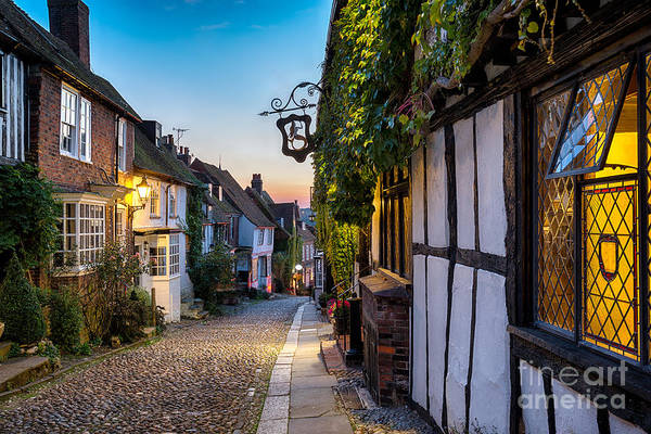 Britain Photograph - Dusk At A Row Of Beautiful Old Houses by Helen Hotson