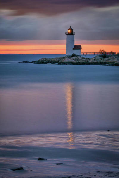 Photograph - Dusk At Annisquam Light by Kristen Wilkinson