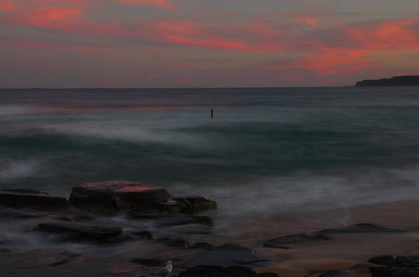 New South Wales Photograph - Dusk At Bar Beach, Newcastle, Nsw by Roderick W. Kidd Photography
