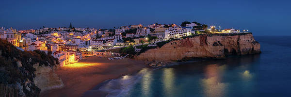 Photograph - Dusk At Carvoeiro - Panorama by Michael Blanchette