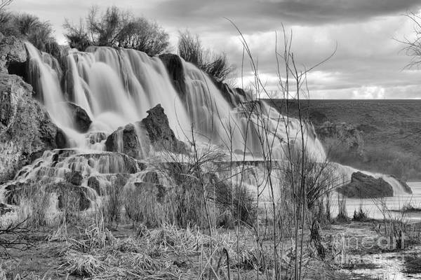 Photograph - Dusk At Fall Creek Falls Black And White by Adam Jewell