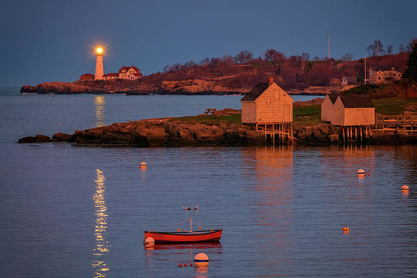 Photograph - Dusk At Fisherman's Point by Rick Berk