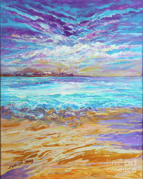 Painting - Dusk At The Beach by Marilyn Young