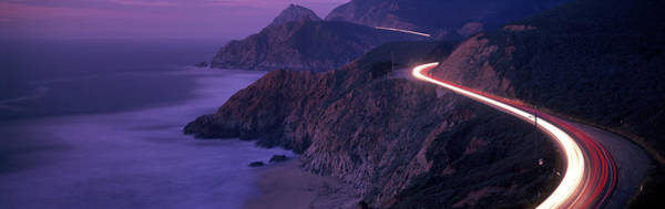 Wall Art - Photograph - Dusk Coast Highway 1 N Ca Usa by Panoramic Images