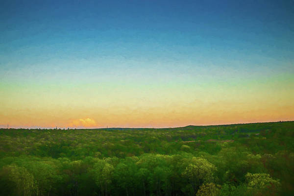 Digital Art - Dusk Falls Over The Pocono Mountains by Jason Fink