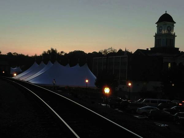 Photograph - Dusk On Courthouse Tent by Vincent Green