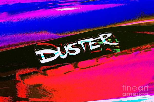 Photograph - Duster Logo Mod Poster Art by Jenny Revitz Soper