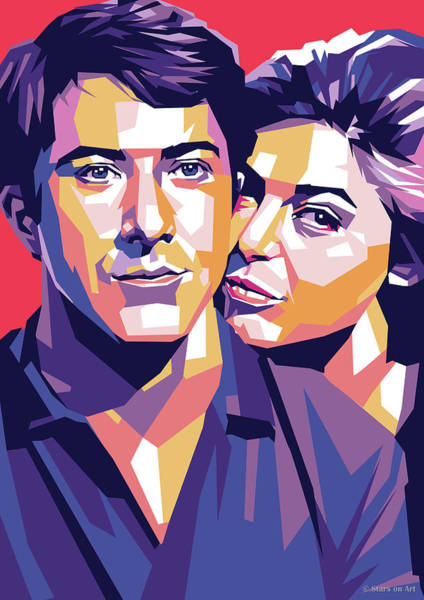 Wall Art - Digital Art - Dustin Hoffman And Anne Bancroft by Stars on Art