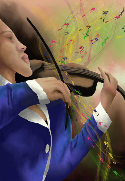 Digital Art - Dusting Off The Violin by April Burton