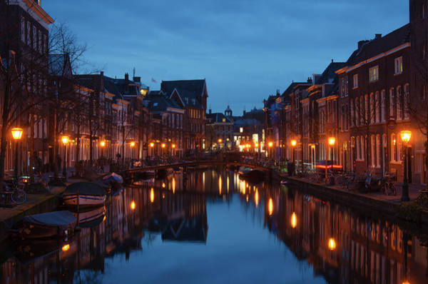 Bluehour Photograph - Dutch Canals At Blue Hour by Dylan Nieuwland