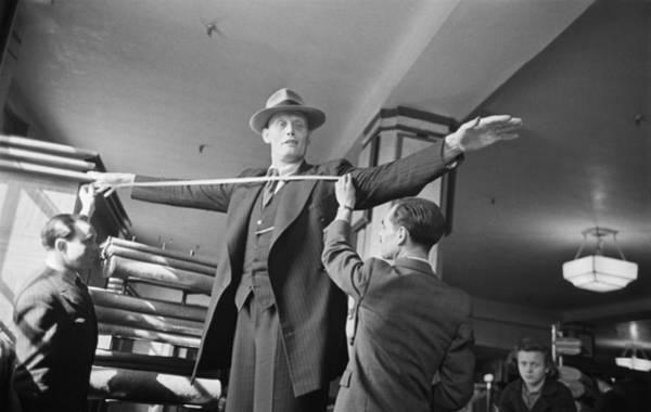 Human Limb Photograph - Dutch Giant by Bert Hardy
