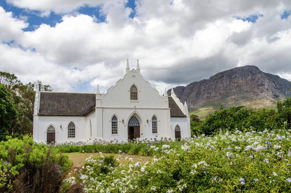 Photograph - Dutch Reformed Church, Franschhoek by Rob Huntley