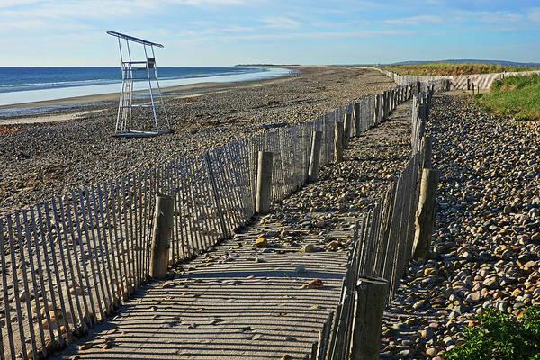 Wall Art - Photograph - Duxbury Ma Beach Fences South Shore Lifeguard Chair by Toby McGuire