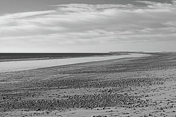Wall Art - Photograph - Duxbury Ma Beach Sunrise South Shore Blue Water Black And White by Toby McGuire