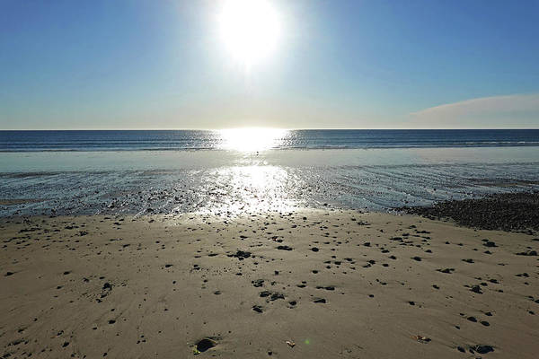Wall Art - Photograph - Duxbury Ma Beach Sunrise South Shore Blue Water Sun Reflection by Toby McGuire