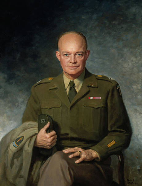 Wall Art - Painting - Dwight D. Eisenhower by Thomas D Stephens