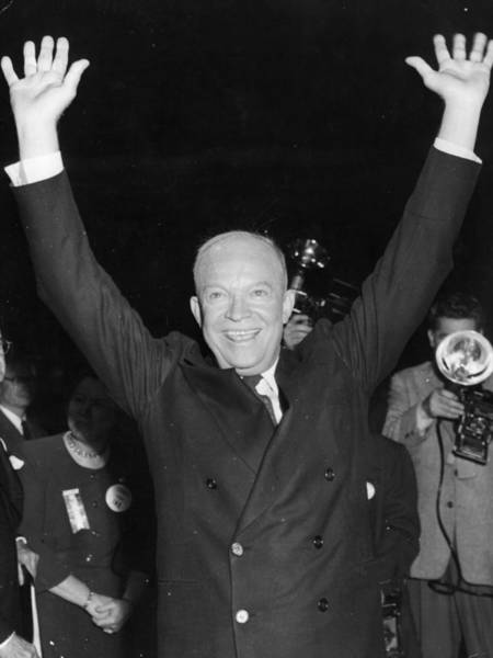 Election Photograph - Dwight Eisenhower by Keystone